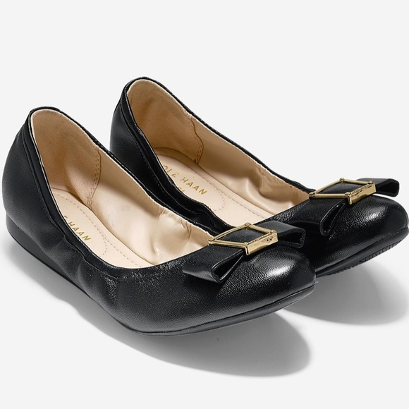 0769eb742dcf1 Cole Haan Emory Bow Leather Ballet II Flat, sz 7.5